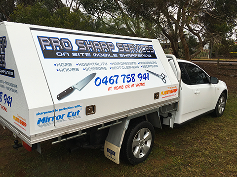 Pro Sharp Services Vehicle